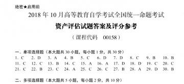 【必备】自考《00158资产评估》历年真题及答案电子版【27份】【已含18年10月】【标准答案/含评分参考】#【再送模考软件】【再送2份真题解析视频】